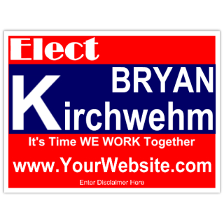 election sign template