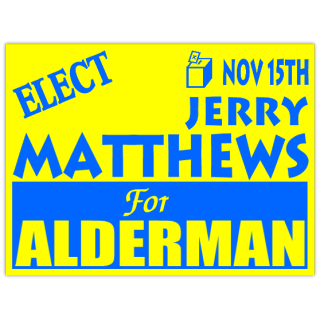 election for alderman campaign sign template