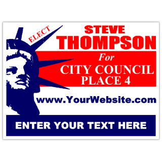 elect for city council campaign sign template