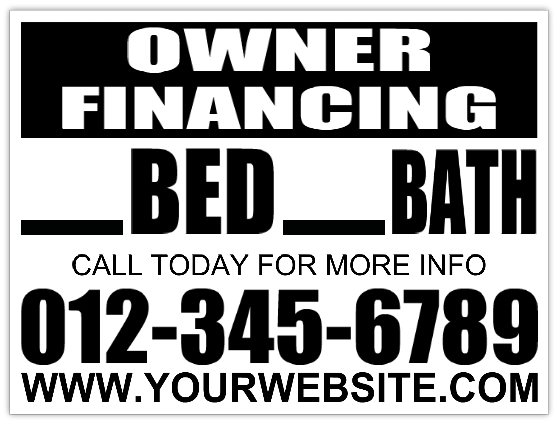 Owner Financing Yard Sign Template