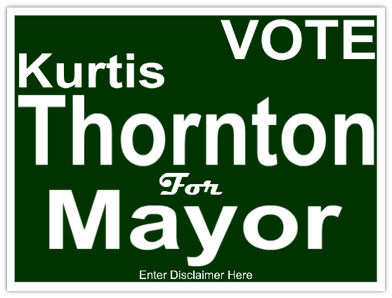 Vote For Mayor Campaign Sign Template