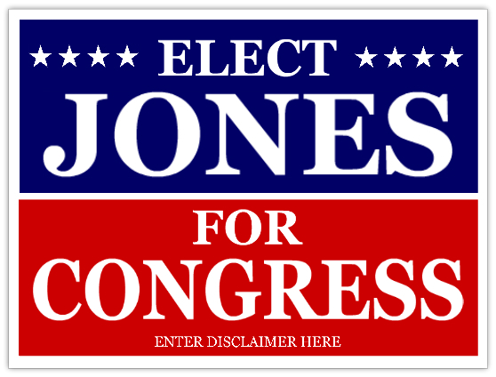 elect for congress campaign sign template
