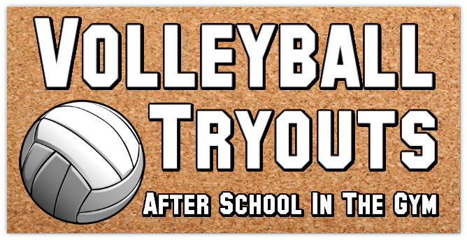 Volleyball Tryouts 101 Sport Banner Templates Sports