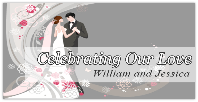 WEDDING BANNER 104 | Wedding Banner Templates | Design Templates ...