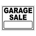 Garage Sale Stock Sign Black 18x24
