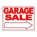 Garage Sale Arrow Stock Sign 18x24