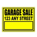 Garage Sale Sign Templates