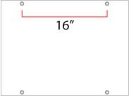 """Grommets 16"""" on Center"""