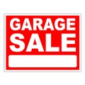 Garage Sale Stock Sign Red 18x24